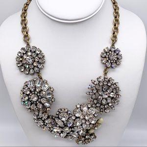 J. Crew Crystal Flower Lattice Necklace
